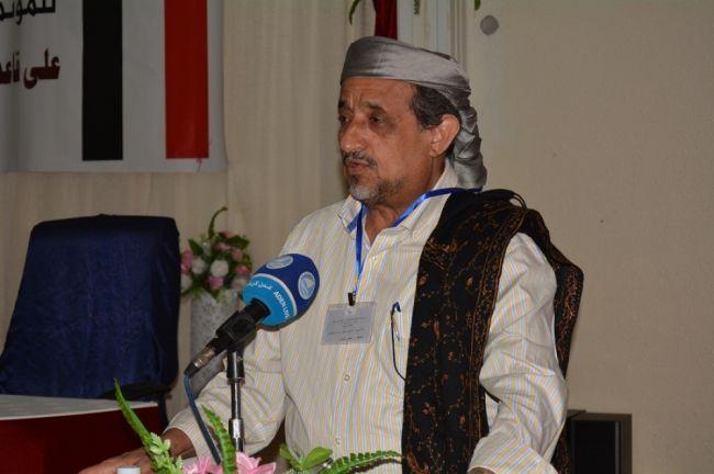 الشيخ صالح بن فريد: نرفض اي دعوات لإسقاط موسسات الدولة